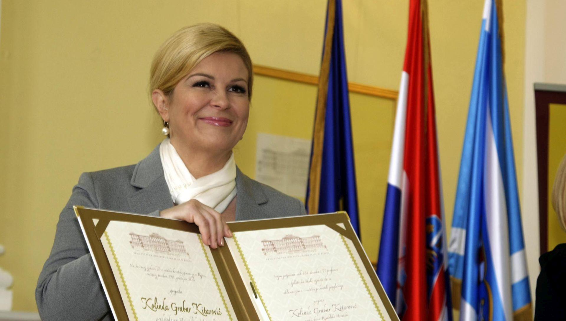 RIJEKA Predsjednici uručena diploma počasne maturantice sušačke gimnazije