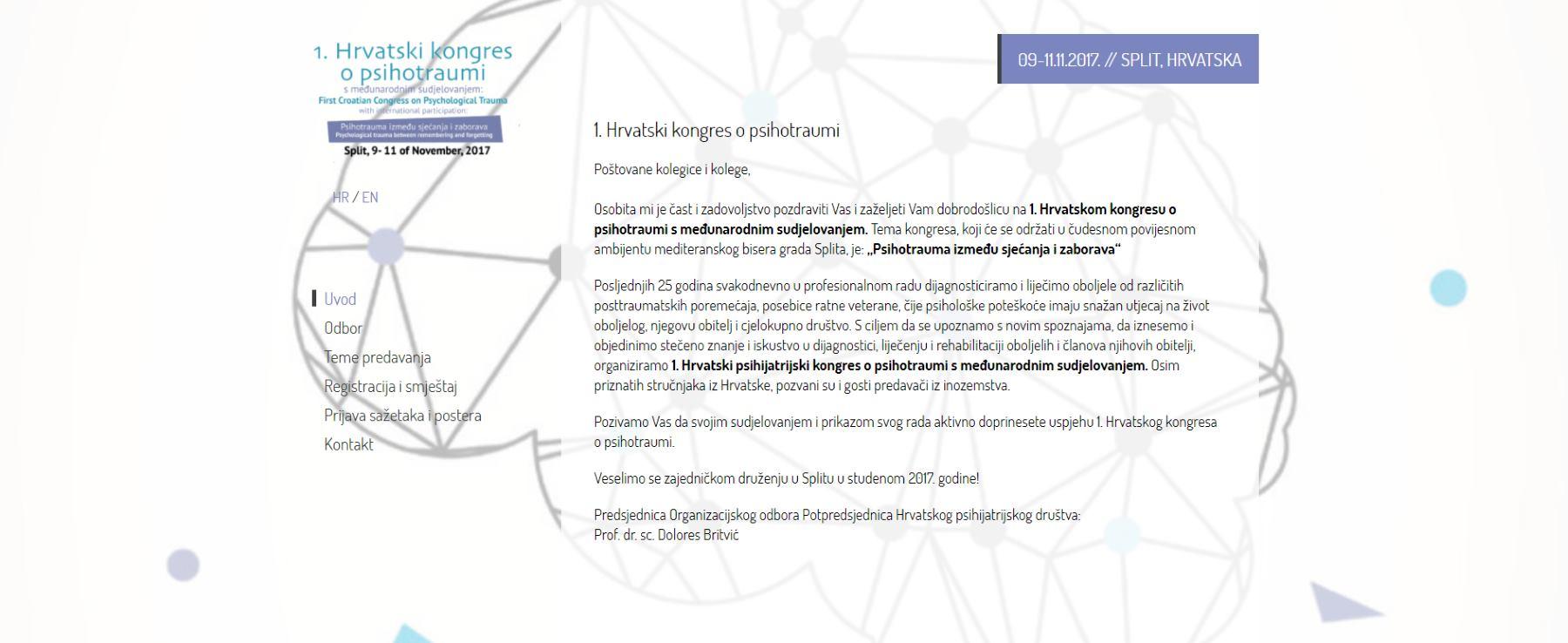 Hrvatski kongres o psiho traumi s međunarodnim sudjelovanjem: Psihotrauma između sjećanja i zaborava
