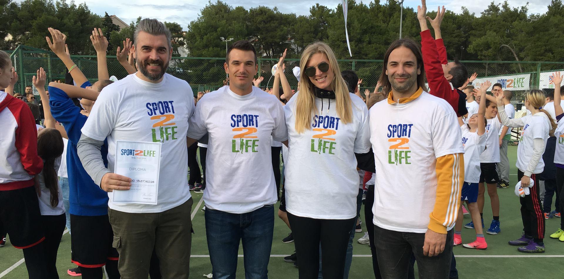 SPORT2LIFE Poznati hrvatski sportaši u Splitu predstavili zabavan edukativno–sportski projekt