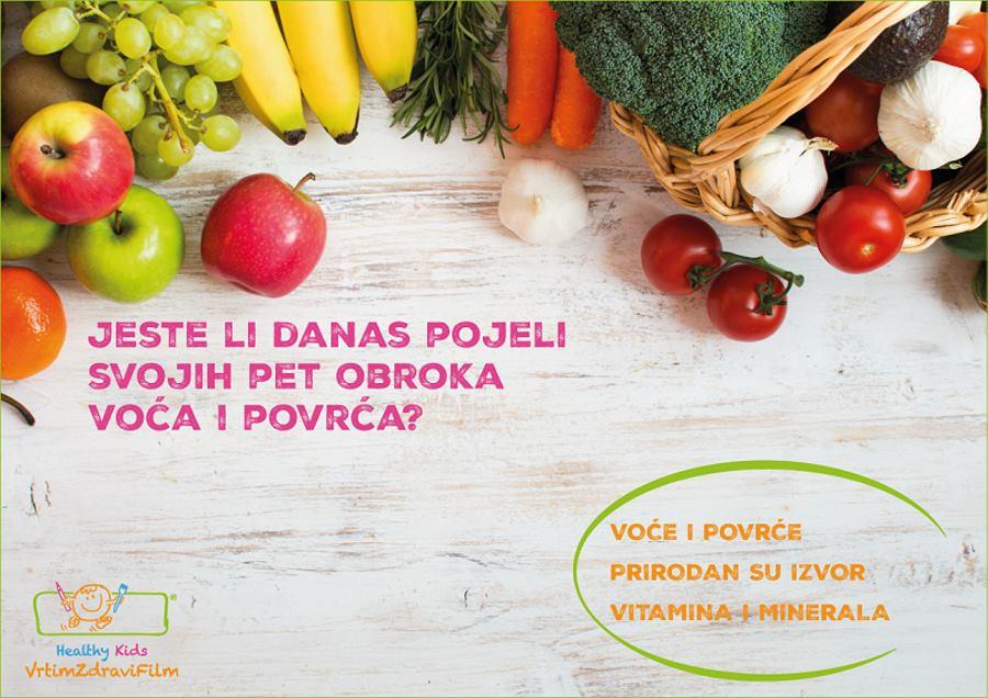 Povećajte svakodnevnu konzumaciju voća i povrća