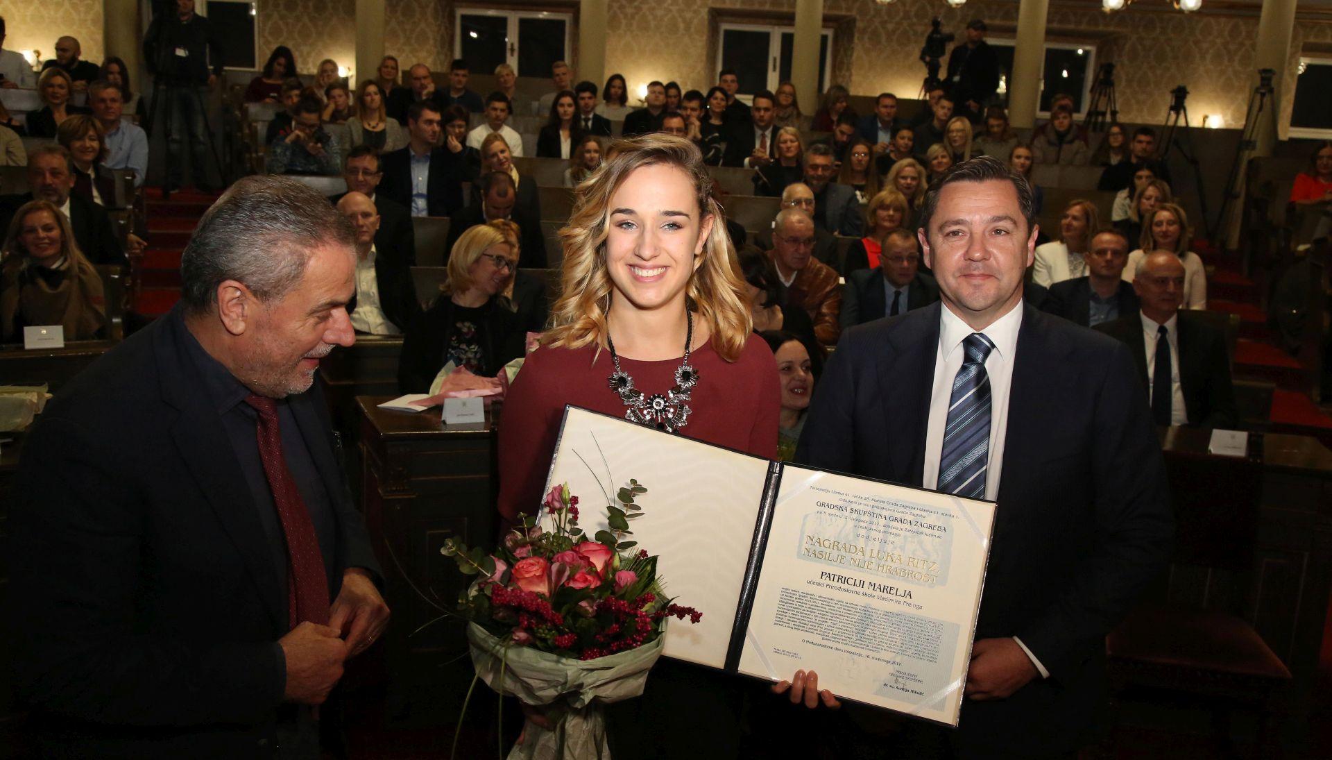 NASILJE NIJE HRABROST Nagrada Luka Ritz dodijeljena Patriciji Marelja i Luki Gnjidiću