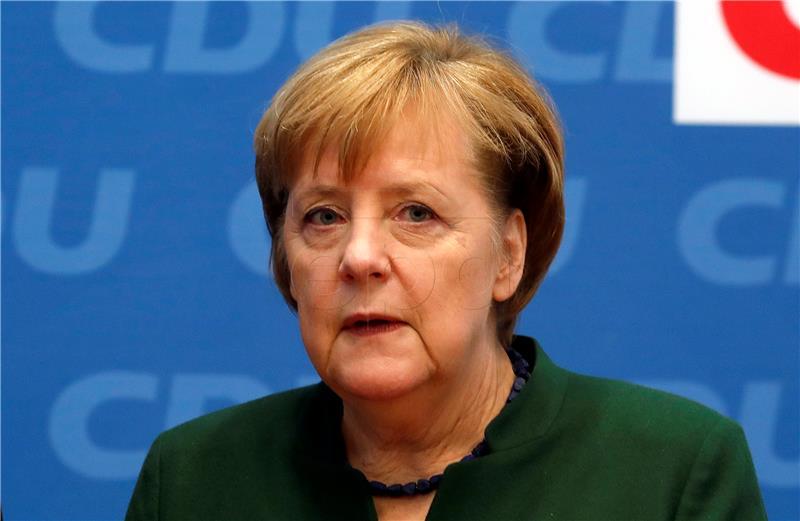 Merkel najavila početak pregovora o vladi sa socijaldemokratima