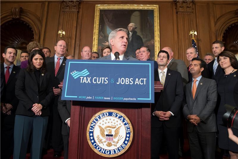 Zastupnički dom američkog kongresa prihvatio paket poreznih reformi