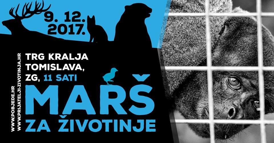 Velika povorka za prava životinja prolazi centrom Zagreba