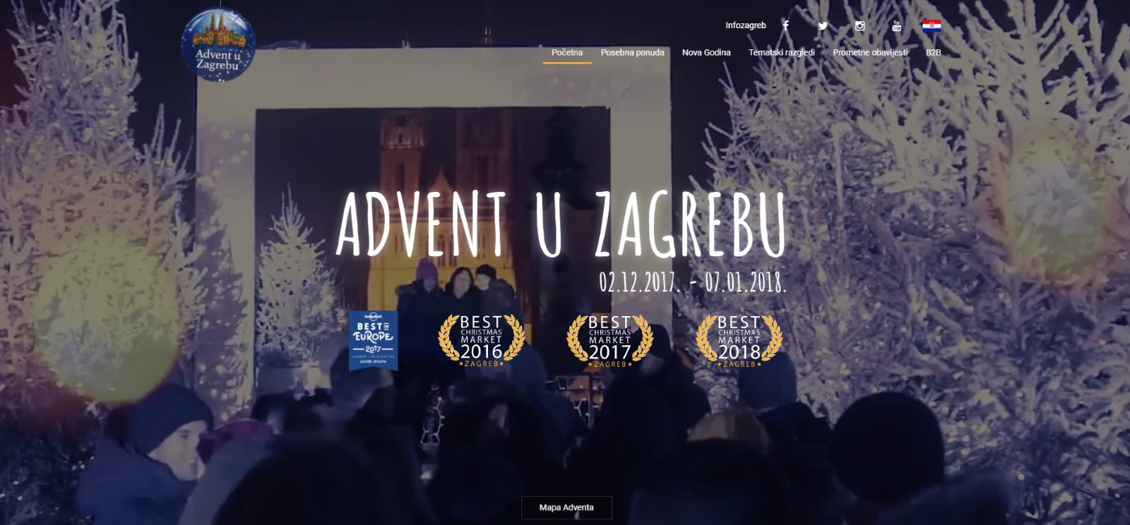 EURPEAN BEST DESTINATIONS Grad Zagreb ponovo najbolja destinacija za božićne blagdane u Europi