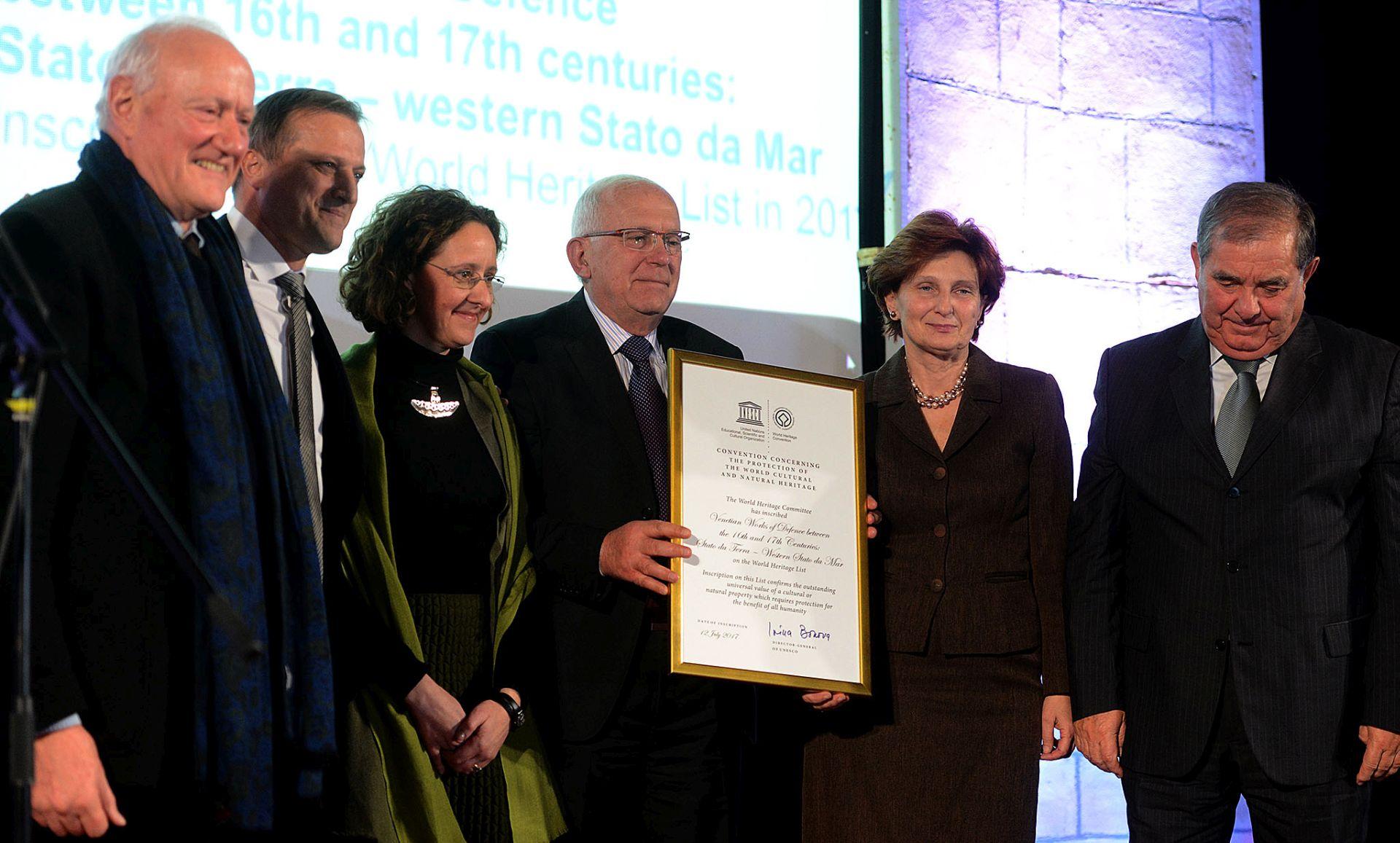 Povelja UNESCO-a Zadru za upis zadarskih bedema na Popis svjetske baštine