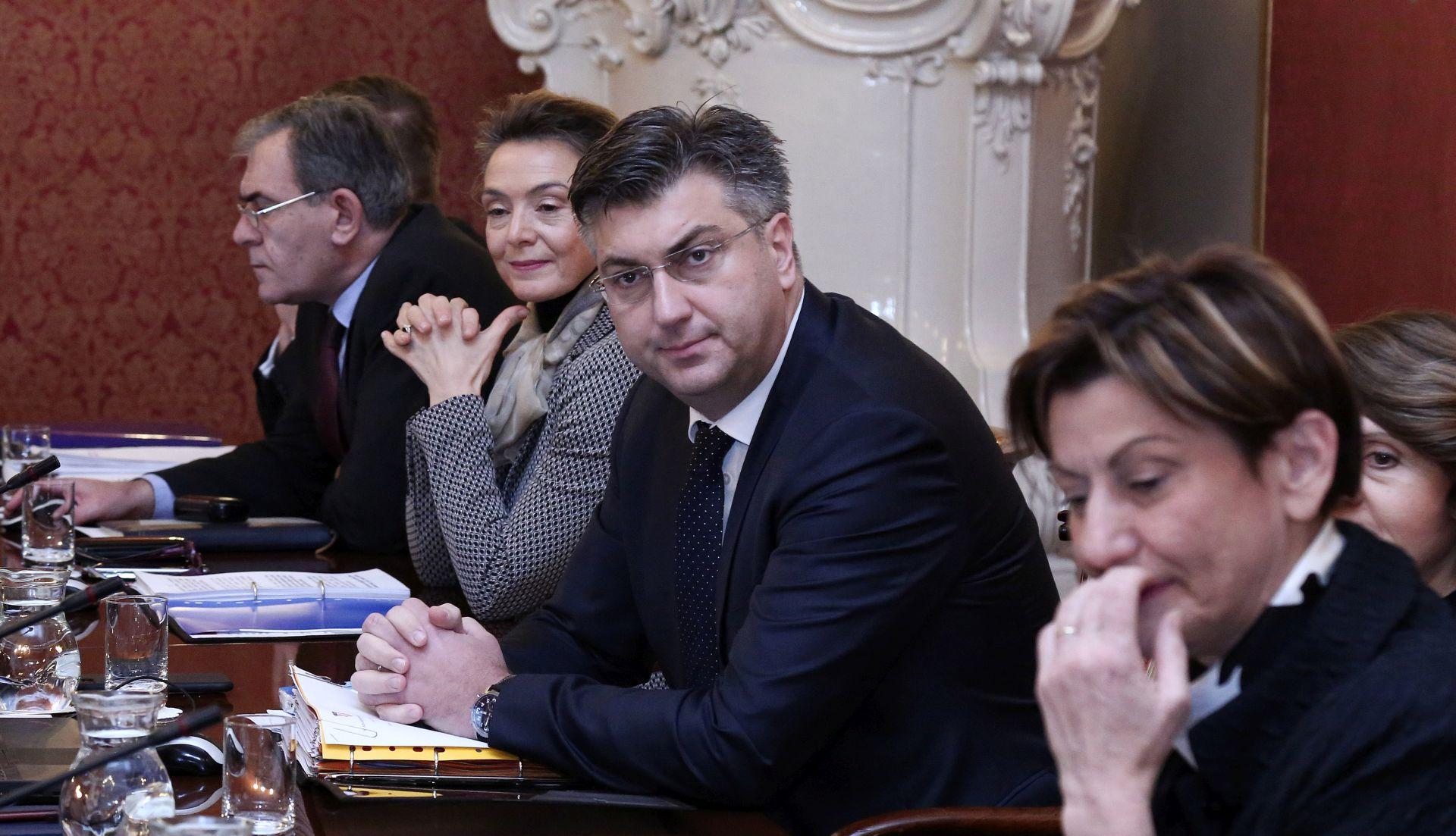 Plenković s ministrima na prijemu SNV-a