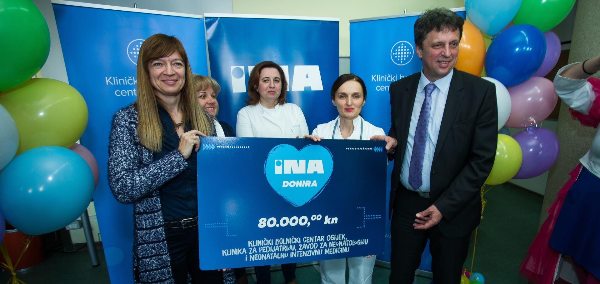 INA uručila donaciju Klinici za pedijatriju KBC-a Osijek
