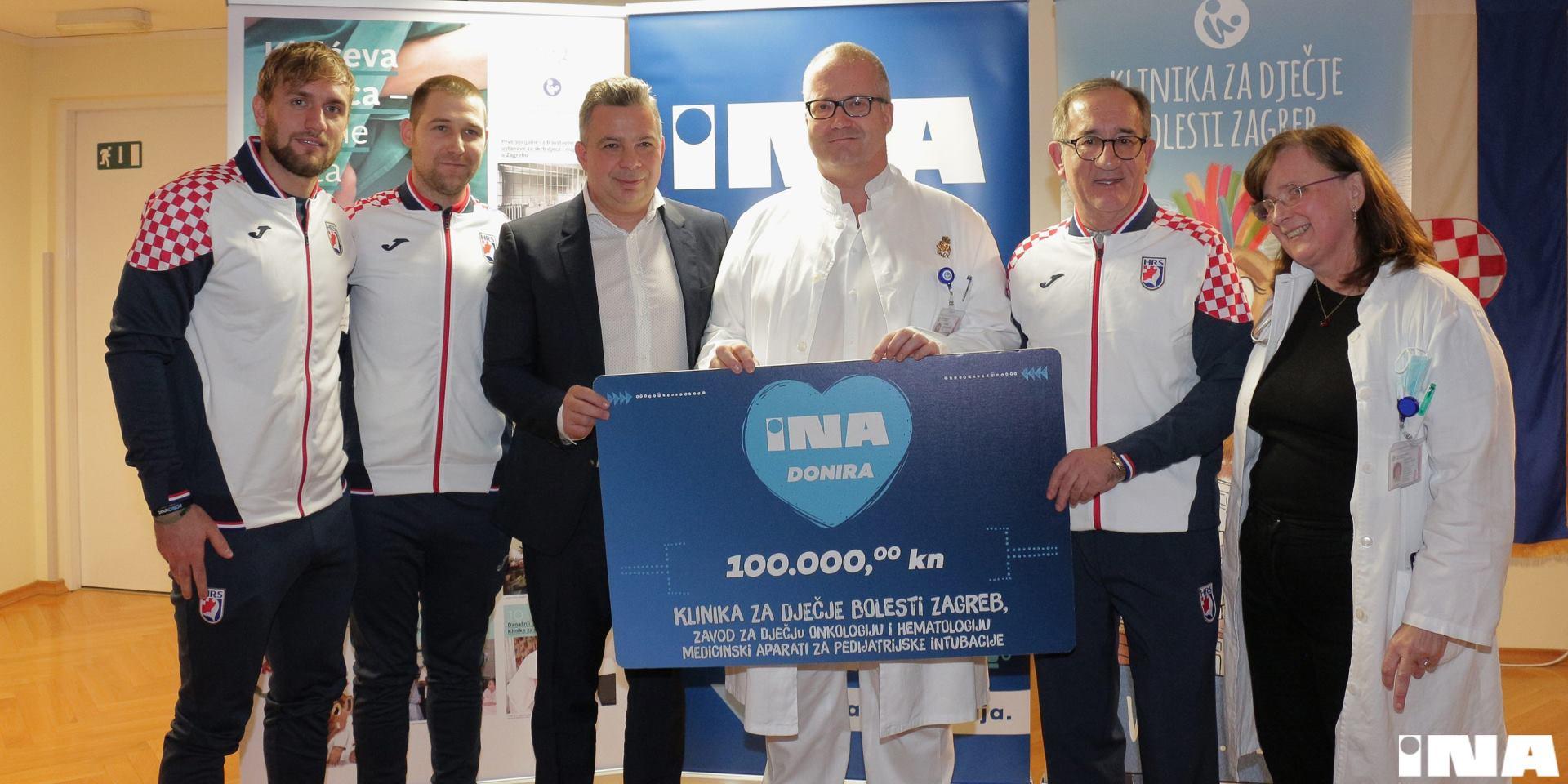 INA uz pomoć hrvatskih rukometnih reprezentativaca uručila donaciju Klinici za dječje bolesti Zagreb