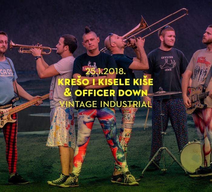 Riječki punk miljenici 'Krešo i Kisele Kiše' i 'Officer Down' na zajedničkom koncertu