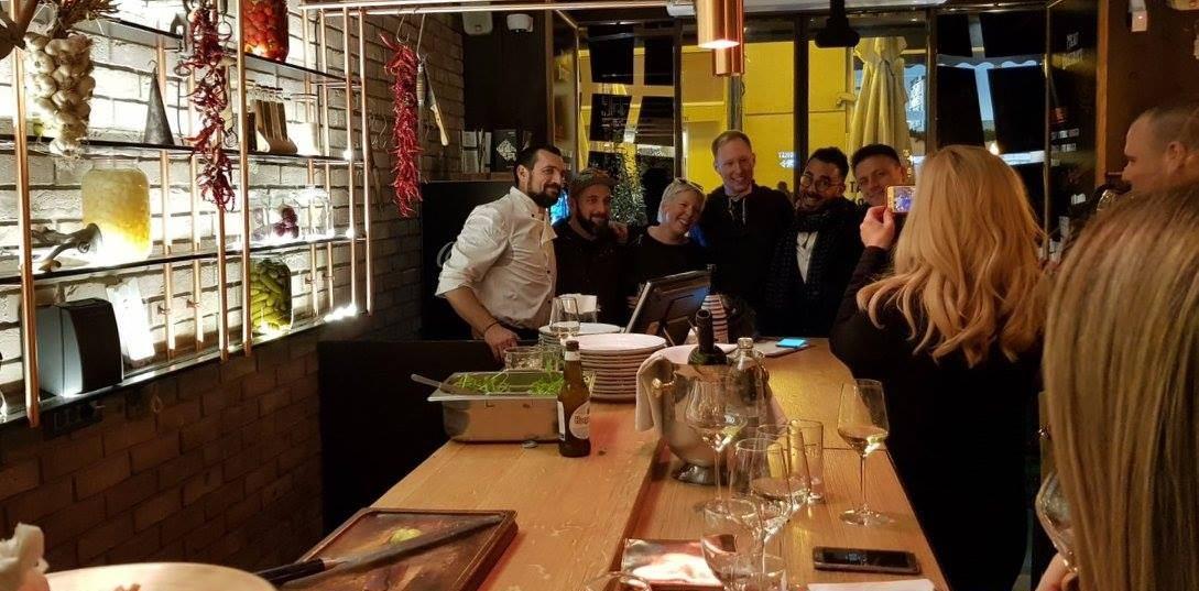 Na gastro eventu restorana Meat District gost chef je bio David Skoko