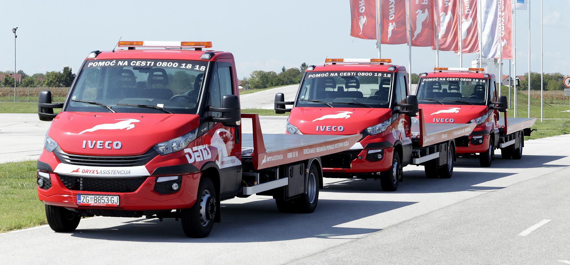 ORYX Asistencija investirala u 20 novih kamiona za pomoć na cesti