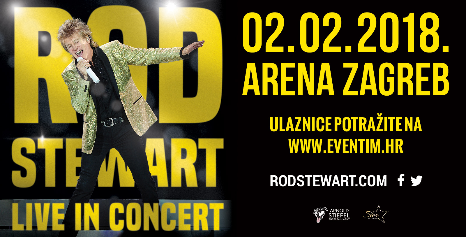 Sir Rod Stewart uskoro nastupa u Areni Zagreb