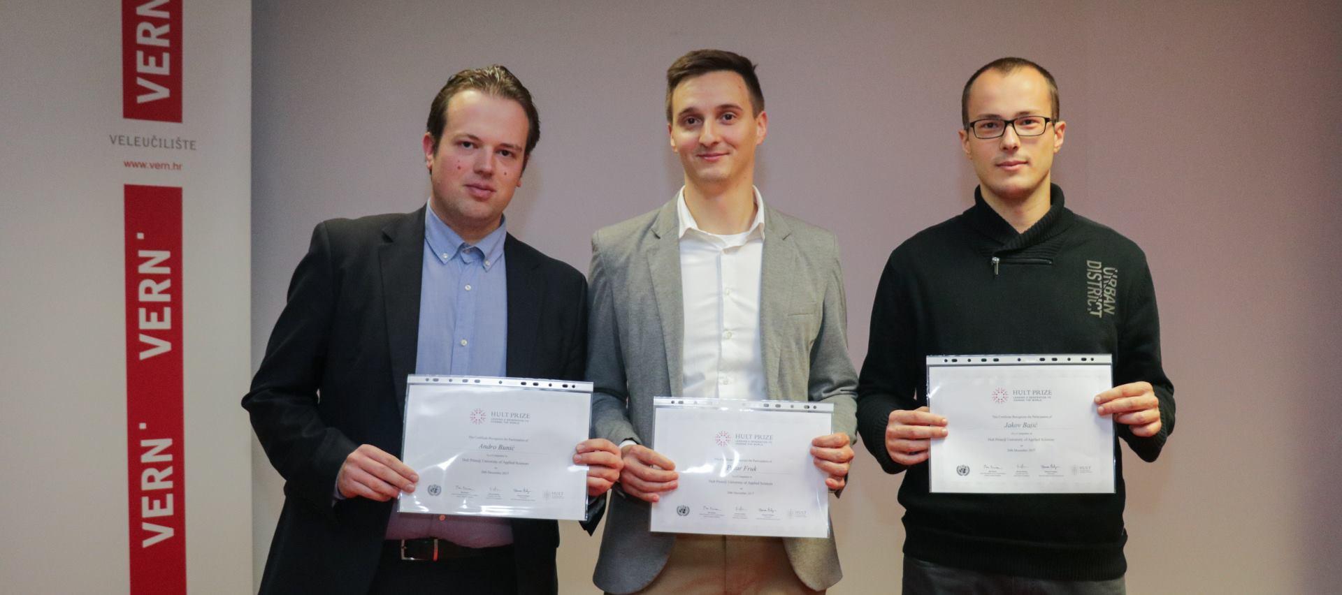 HULT PRIZE 2018 Studentskih tim Veleučilišta VERN' kreće na regionalno finale natjecanja