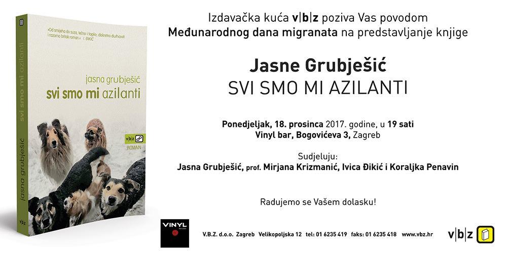 Predstavljanje knjige Jasne Grubješić –'Svi smo mi azilanti'