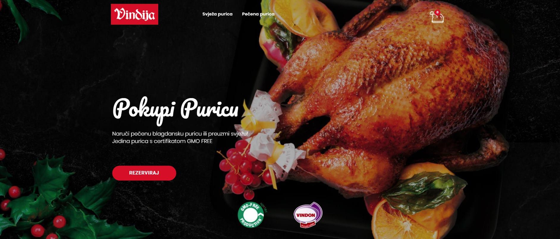 Naruči Vindon blagdansku GMO FREE puricu ONLINE