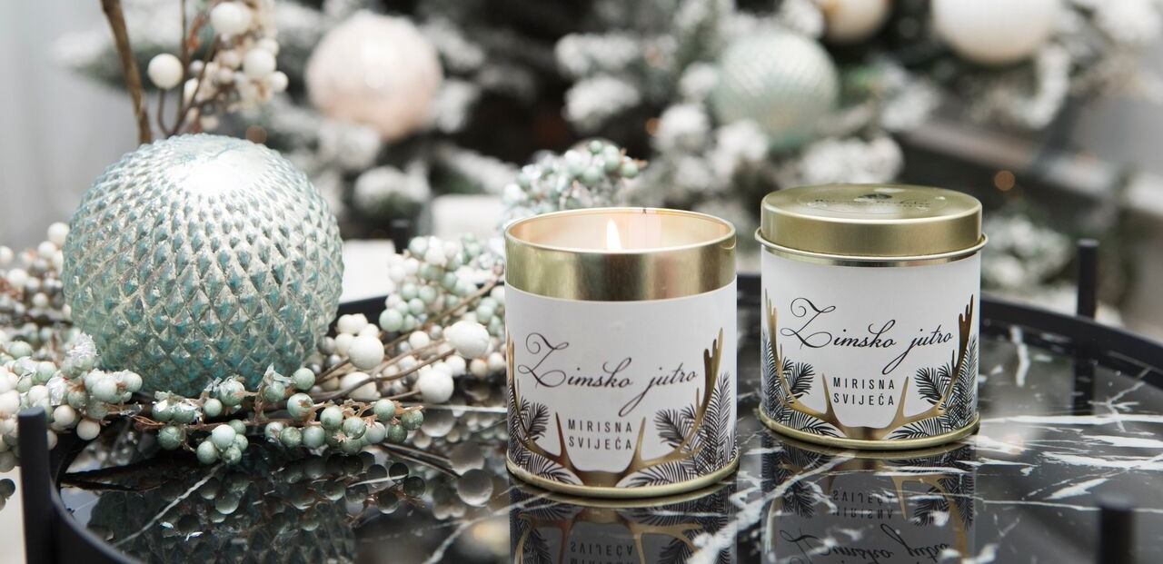 ZIMSKO JUTRO Mirisne svijeće s potpisom Mirjane Mikulec