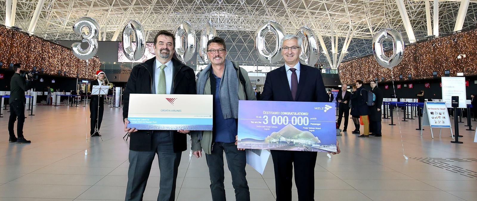 FOTO: Zračna luka Franjo Tuđman prvi put u povijesti bilježi tri milijuna putnika