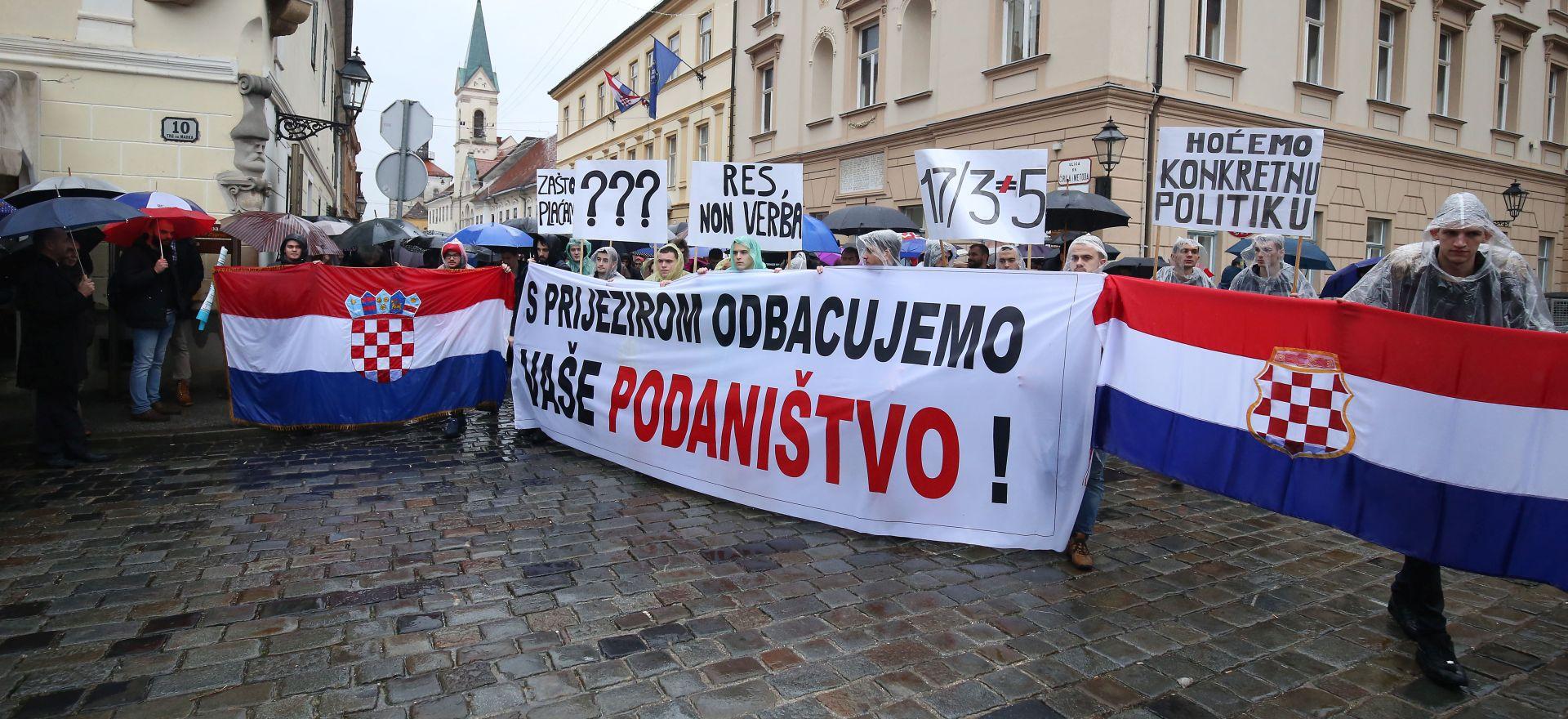 MARKOV TRG Studenti zatražili od vlasti jasnu politiku prema BiH Hrvatima