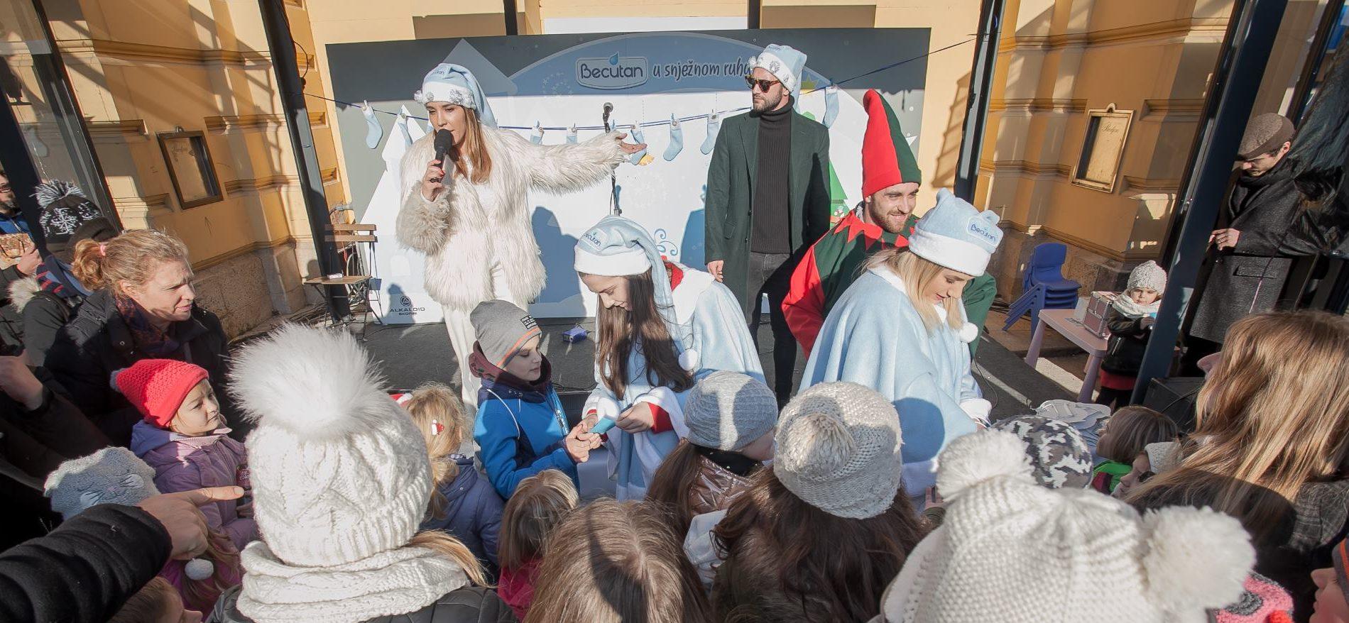 Marijana Batinić i Luka Nižetić zabavili najmlađe u programu 'Becutanovo snježno ruho'