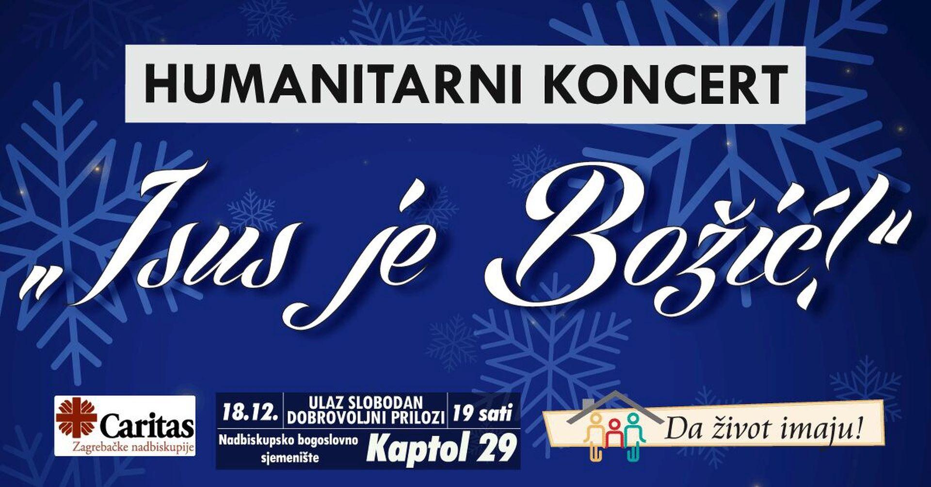 Humanitarni koncert 'Isus je Božić' za akciju 'Da život imaju!'