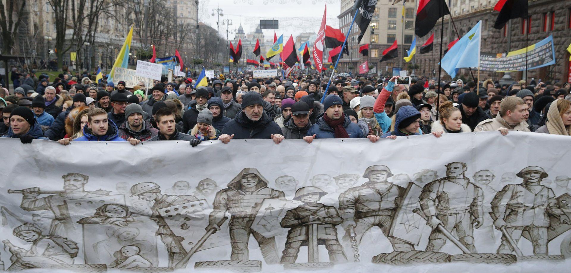 KIJEV Tisuće prosvjednika na skupu potpore Saakashviliju