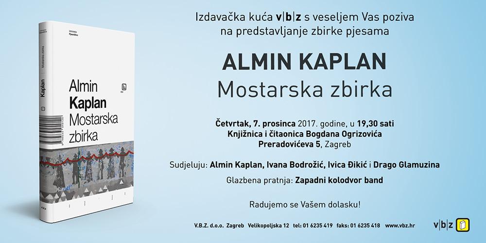 MOSTARSKA ZBIRKA Predstavljanje zbirke pjesama Almina Kaplana