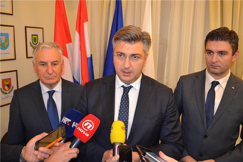 Plenković se u Dubrovniku sastao s lokalnim dužnosnicima