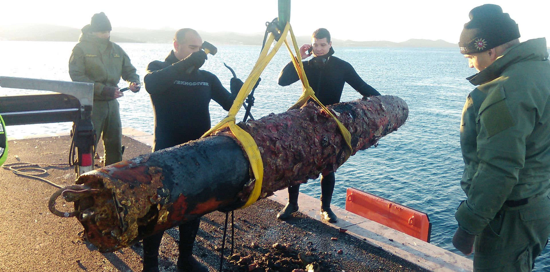 UGLJAN Iz mora izvađen torpedo iz Prvog svjetskog rata