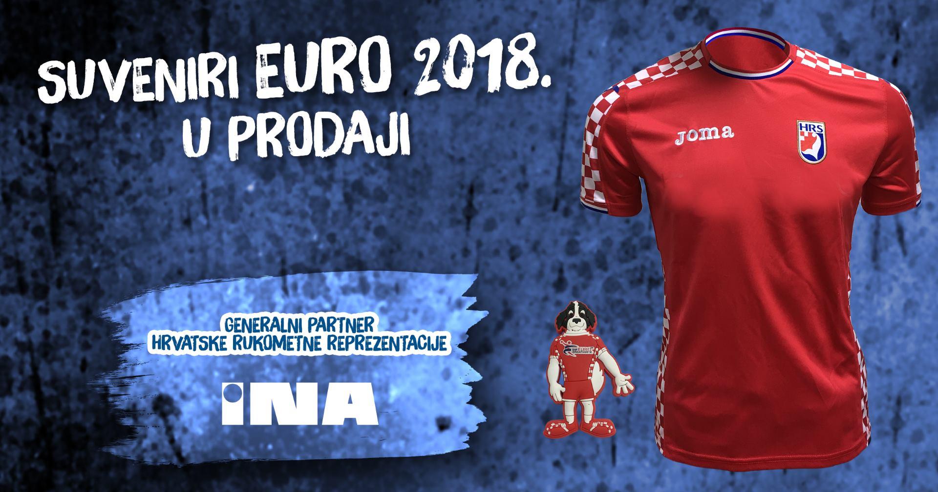 Navijački suveniri i ulaznice za EHF EURO 2018 dostupni na Ininim maloprodajnim mjestima