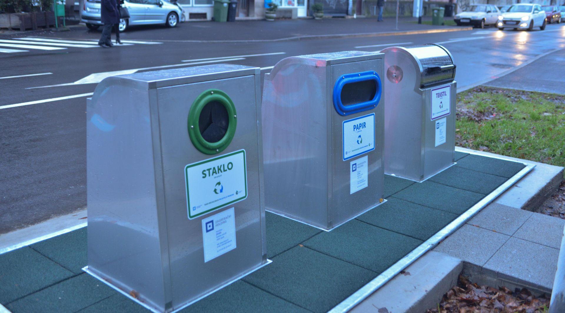 FOTO: Zagreb dobio podzemni spremnik za odvojeno skupljanje otpada