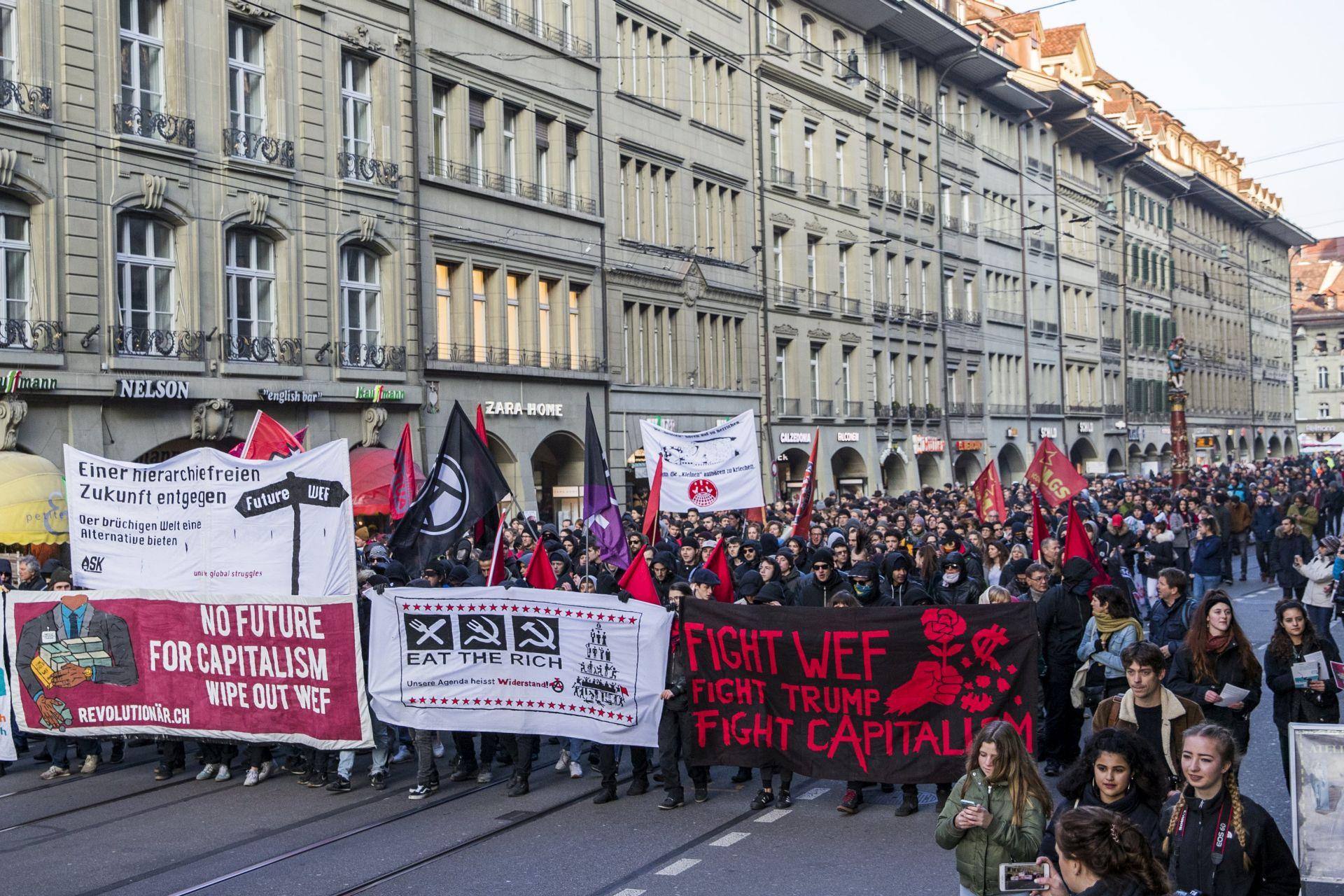 Antikapitalisti prosvjedovali protiv Trumpa i Davosa