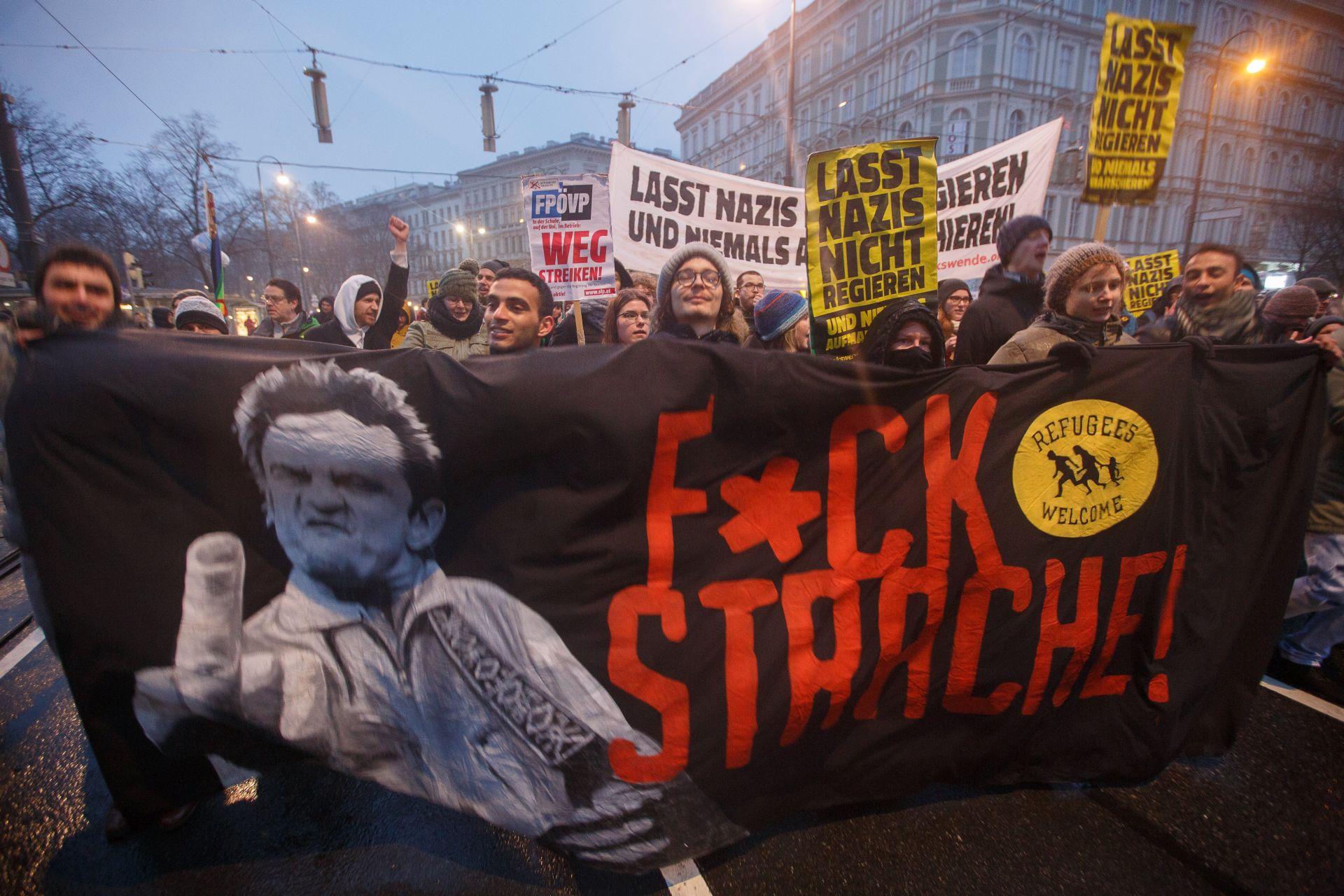 Austrijska ljevica prosvjeduje protiv desne vlasti