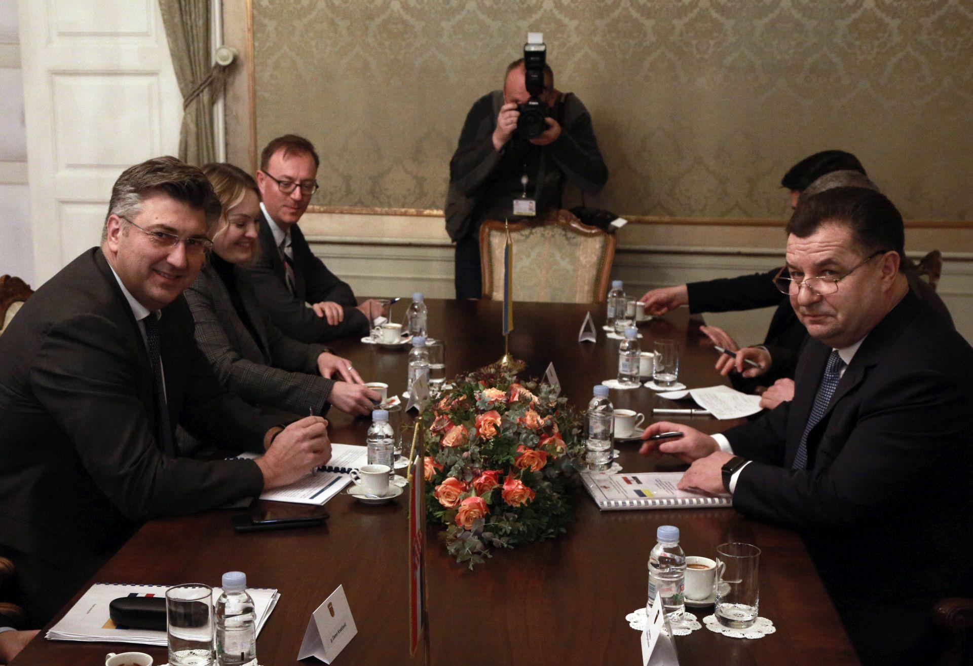 Plenković primio ukrajinskog ministra obrane