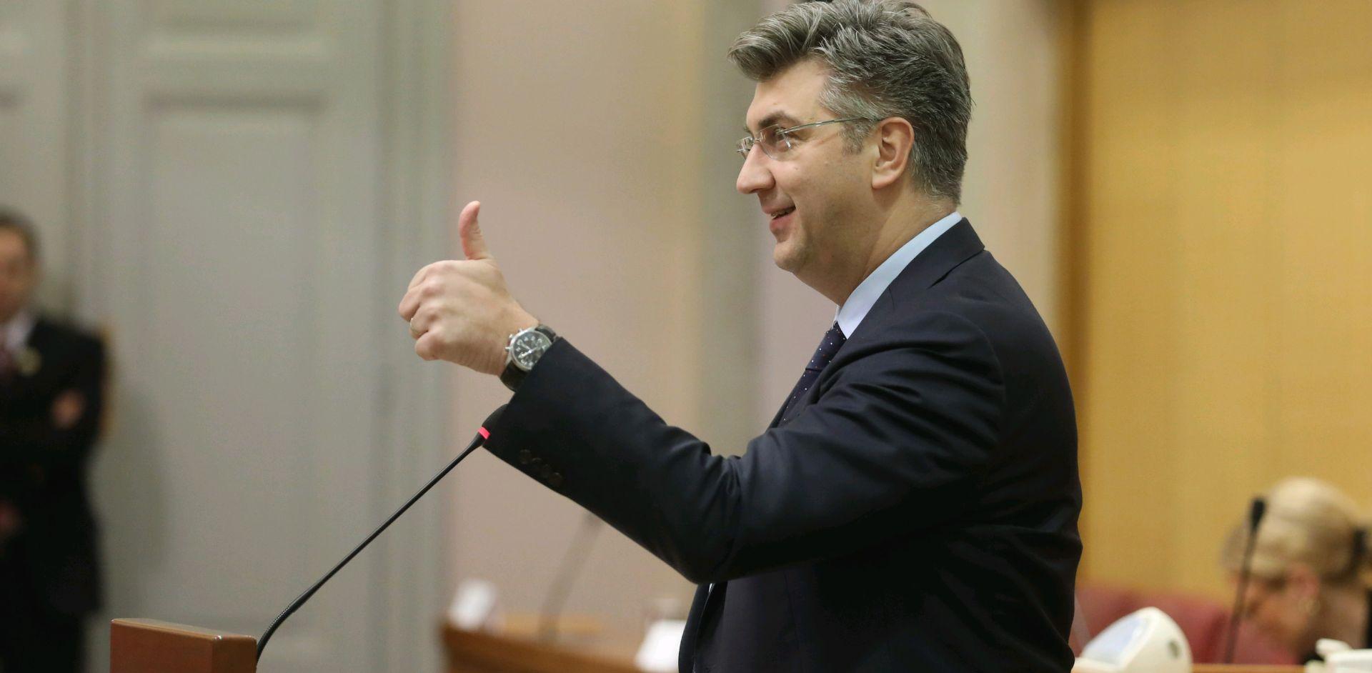 Plenković na radnom ručku s koalicijskim partnerima