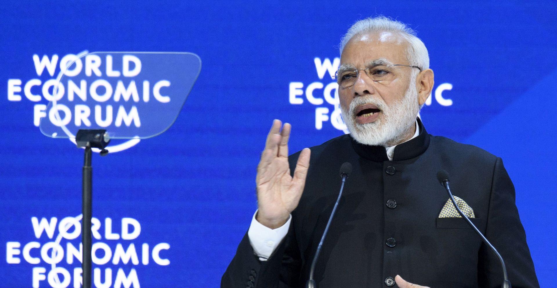 Indijski premijer u Davosu rekao da globalizacija gubi na privlačnosti
