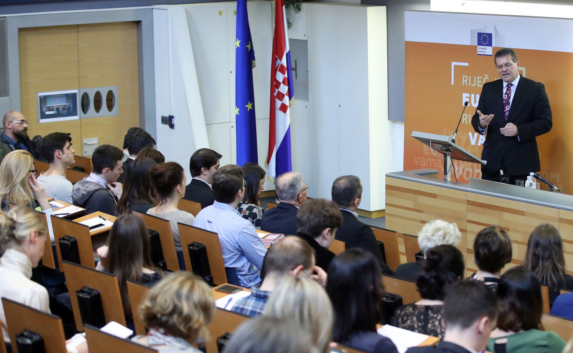 Šefčovič: Hrvatska bi mogla biti energetsko čvorište jugoistočne Europe