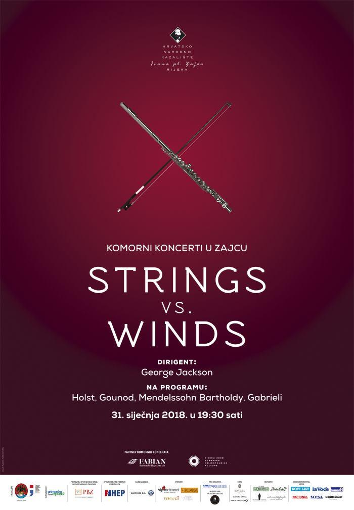 HNK IVANA PL. ZAJCA Maestro George Jackson ravna komornim koncertom 'Strings vs. Winds'