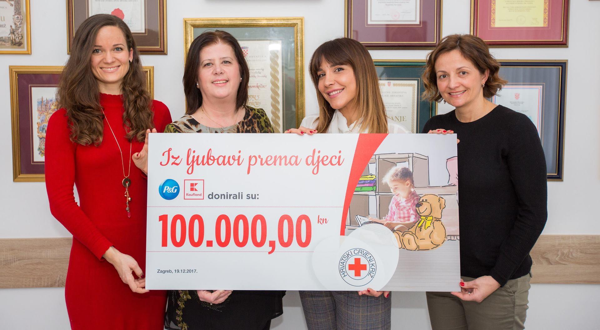 Kaufland i P&G ostvarili cilj, doniraju HCK-u 100 000 kuna za djecu u potrebi