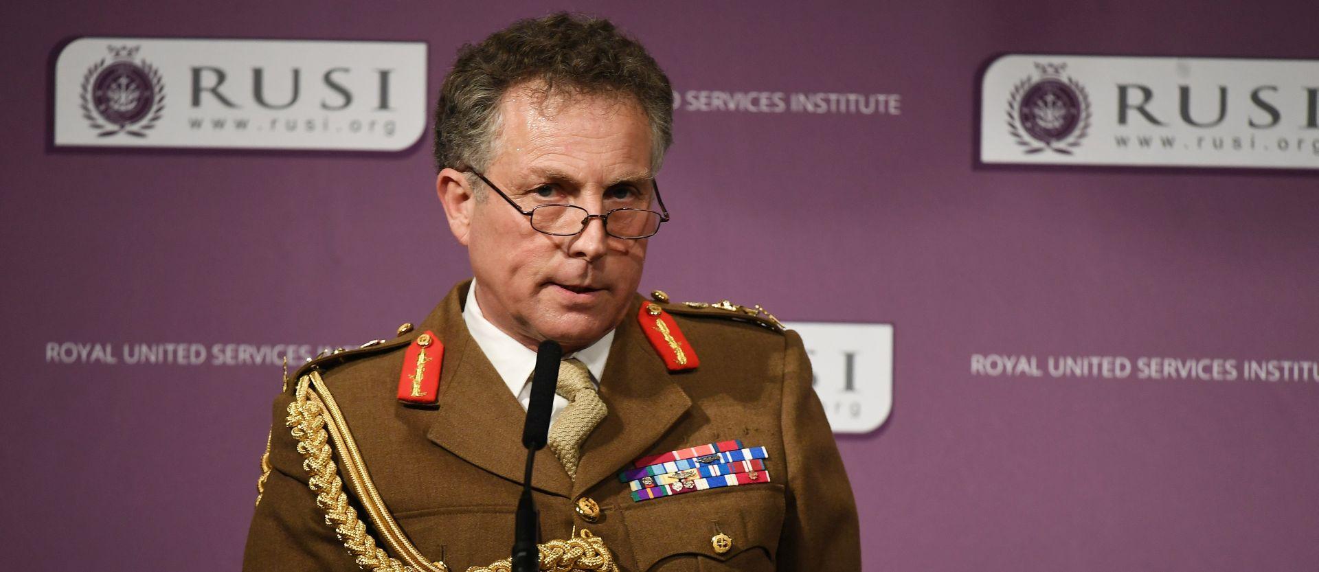 Britanski šef glavnog stožera upozorava na rusku prijetnju