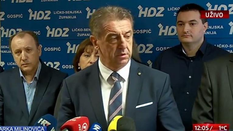 OSTAVKA DARKA MILINOVIĆA: 'Ličko-senjskom županijom neće rukovoditi iz Zagreba!'