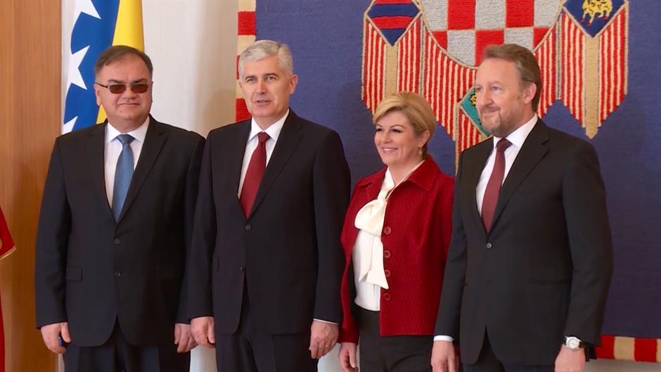 SARAJEVO Prosvjed zbog posjeta predsjednice Hrvatske