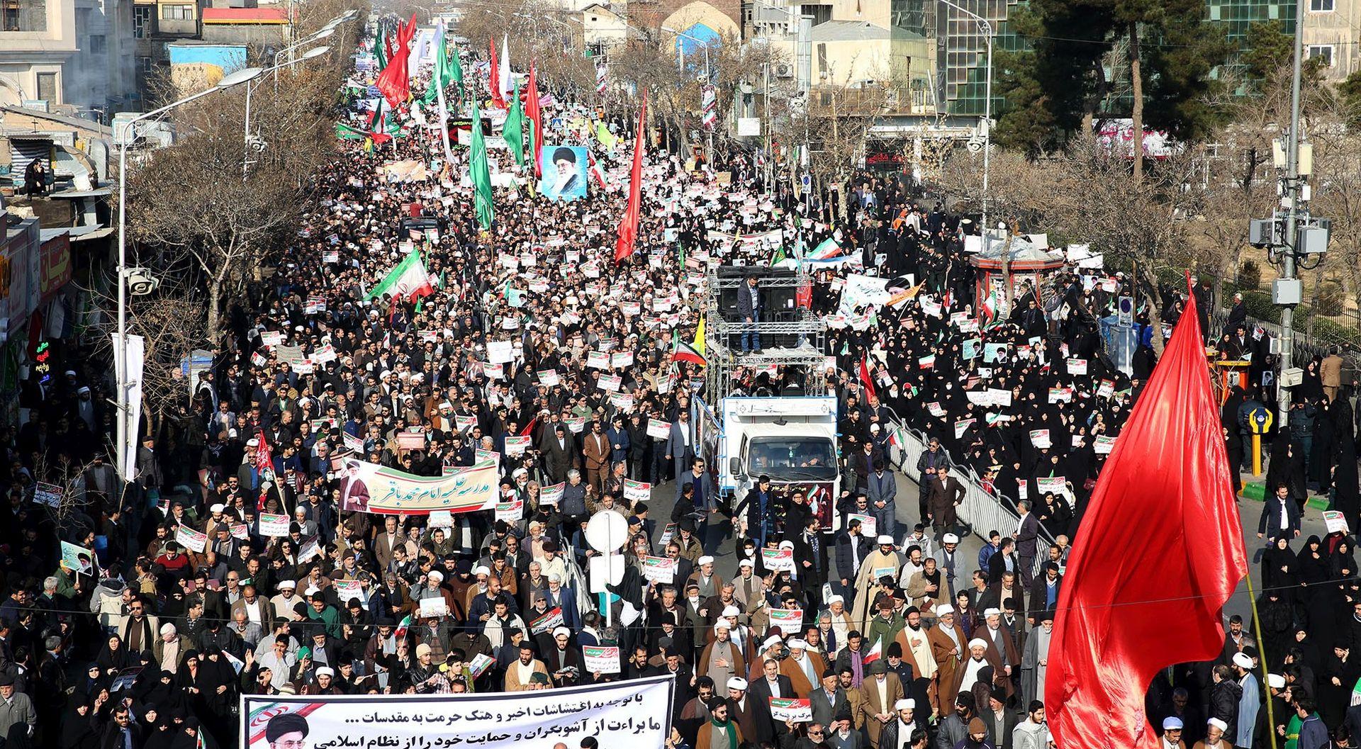 IRAN Treći dan prorežimskih prosvjeda