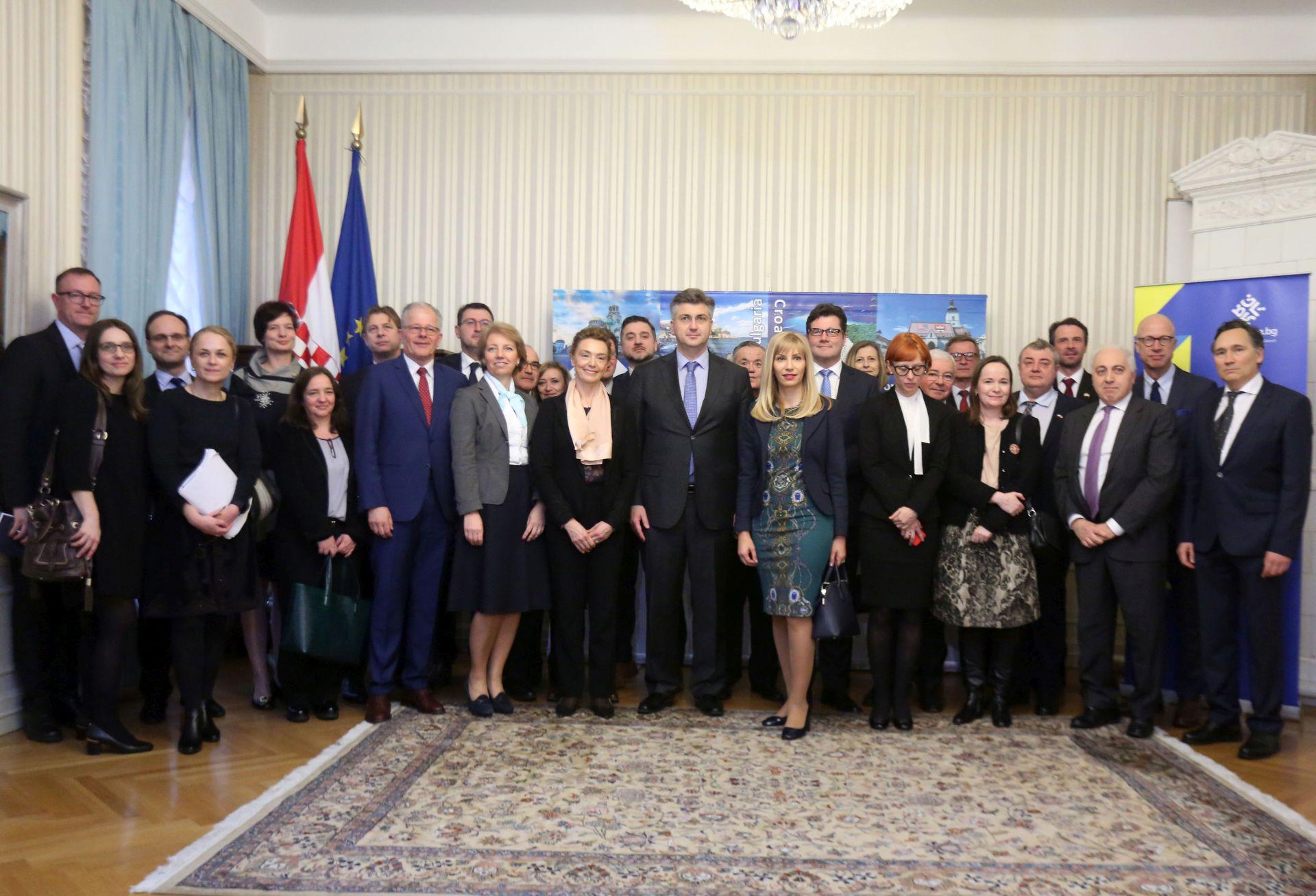 Plenković se sastao s veleposlanicima EU zemalja