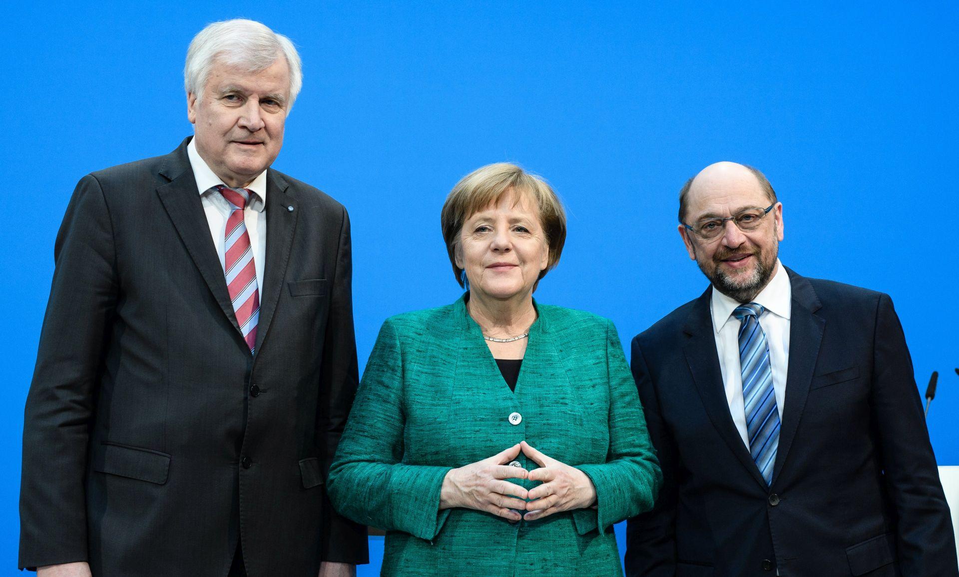 NJEMAČKA Čelnici zadovoljni koalicijskim ugovorom