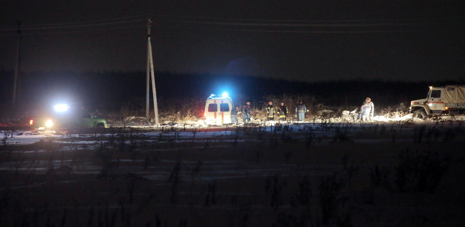 Ruski istražitelji traže uzrok pada aviona kod Moskve