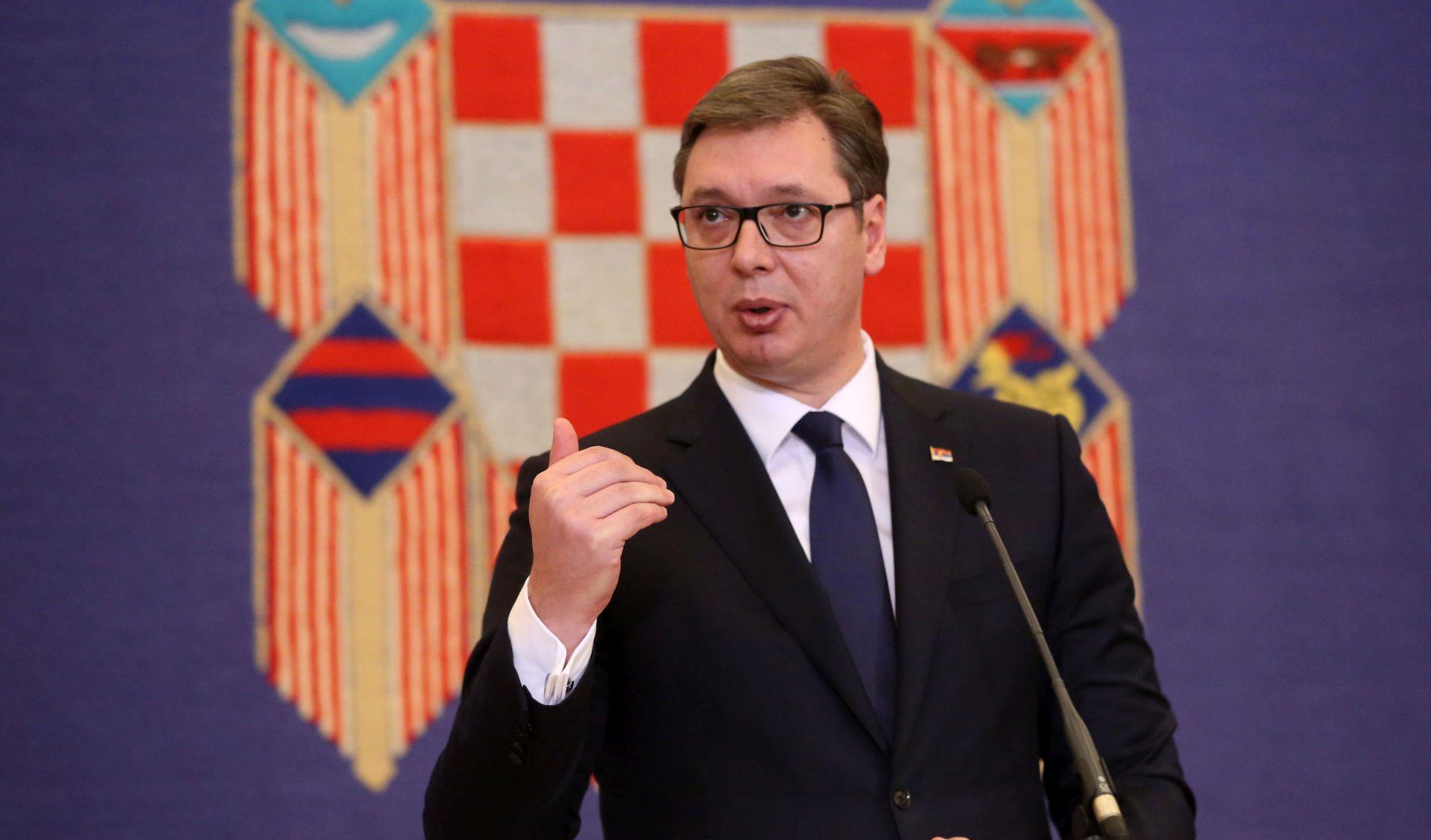 Vučić uveo 100 dana embarga na vrijeđanje Hrvatske
