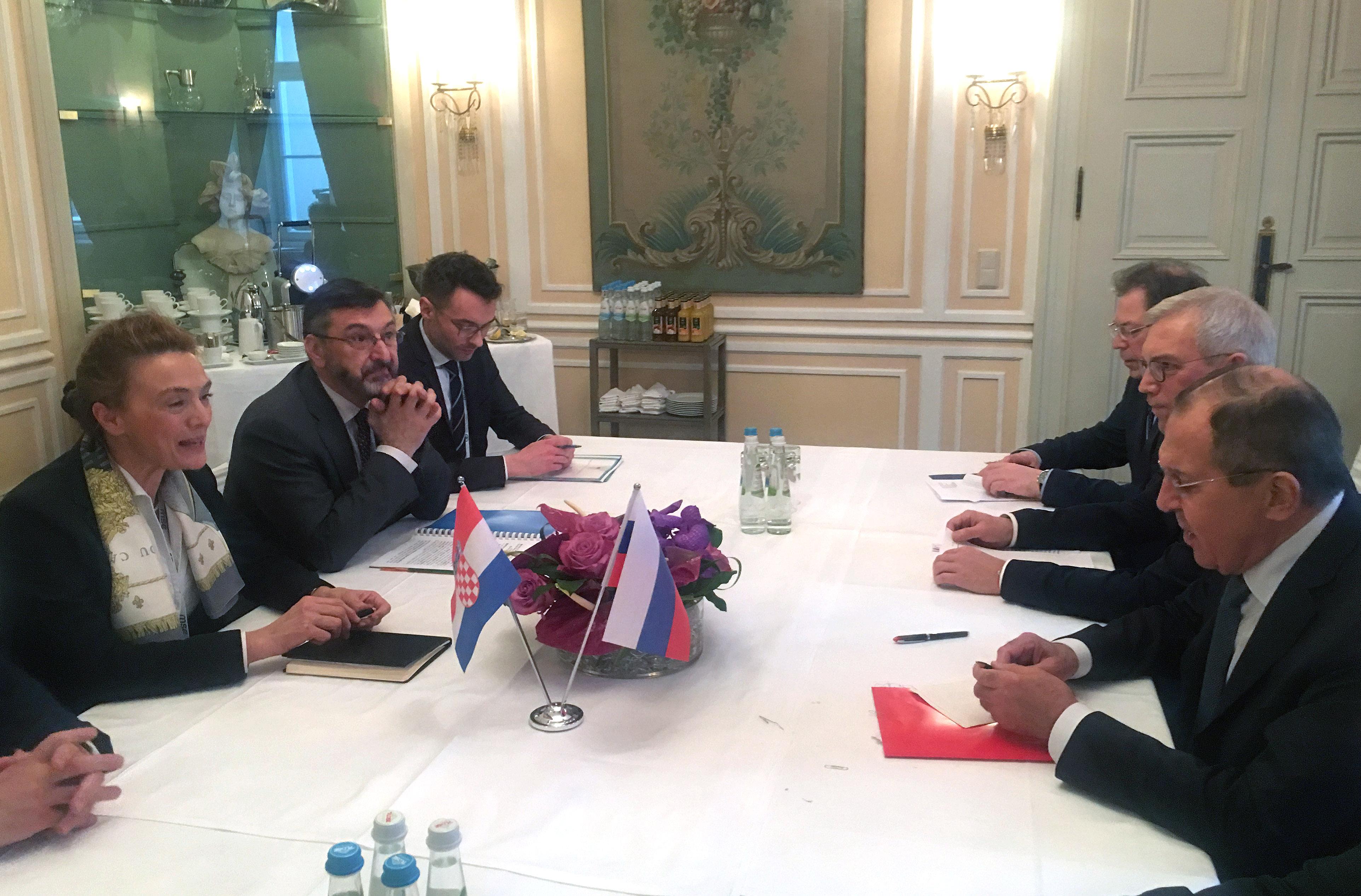 Pejčinović Burić s Lavrovom nastavlja pojačanu dinamiku bilateralnih odnosa Hrvatske i Rusije