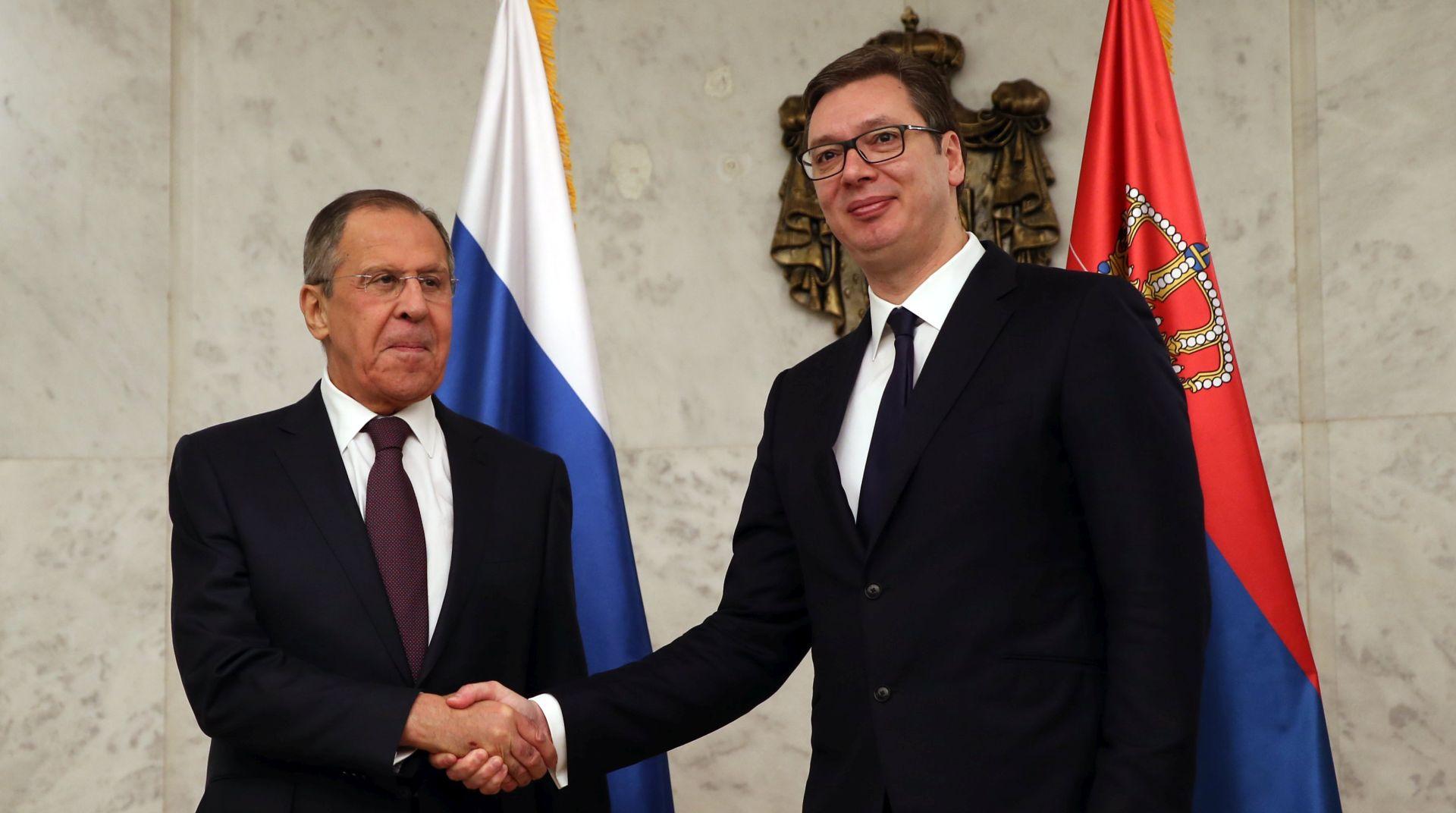 Lavrov i Vučić pohvalno o odnosima Rusije i Srbije