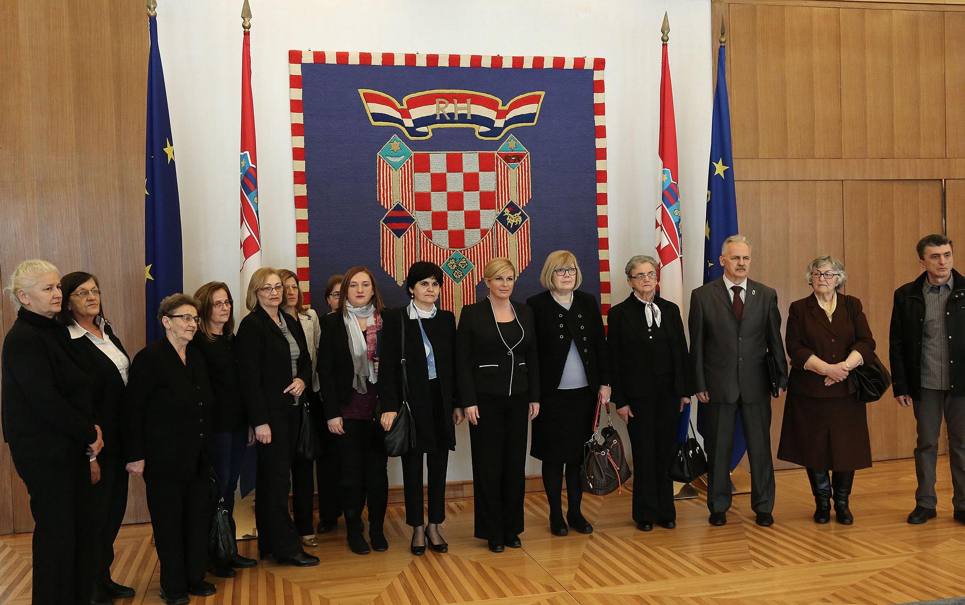 Predsjednica primila predstavnike srbijanskih udruga nestalih